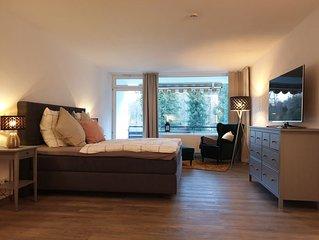 modernes Appartement, renoviert, mit Parkblick