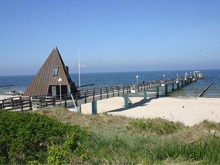 2-Zimmer-Apartment direkt am Strand für 4 Personen,  kostenloses WLAN u. Sauna