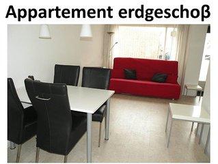 Appartement 200 Meter von Strand im Zentrum im Erdgeschoss mit parkplatz