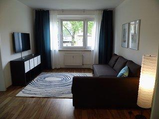 Schöne 2-Zimmer-Parterre Wohnung Wi-Fi