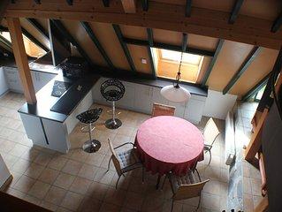 Gemütliche Wohnung gehobene Ausst. in Kork,  ruhigem Dorf Nähe Straßburg
