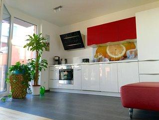 Fewo mit Rheinblick, 125 qm, 4 Zimmer, Designer Ausstattung