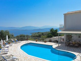 Villa with Private Pool and Magnificent views over Kassiopi village and Albania