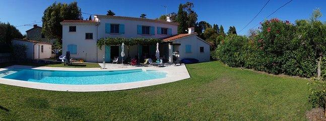 Panorama giardino e villa