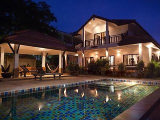 Luxury Pool Villa at Long Beach - Large and well furnished