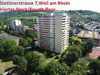 Apartement fur Gruppen oder Familien, die in Basel Urlaub oder Arbeit machen.