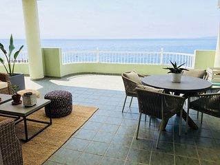 Direkt am Strand ruhige Wohnung mit grosser Terasse