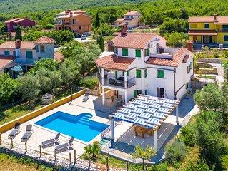 EVA Ferienhaus mit privat Pool und mit wunderschönem Meerblick auf der Insel Cre