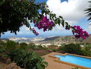 Traumhafter Blick aufs Meer - Arucas und Las Palmas mit Wellness/Sauna