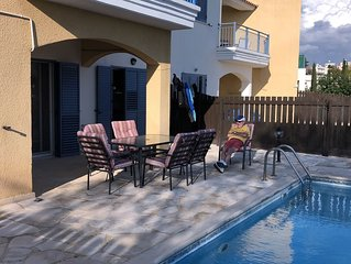 3 bed 2 bath flat with large terrace and private pool