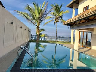 Sand Villa - New Beachfront Private Pool - Three Sea Facing Ensuite AC Bedrooms
