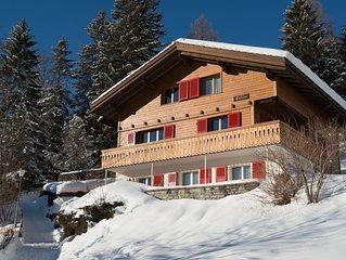 gediegenes Ferienhaus fantastische Aussicht in die Berge und optimale Besonnung