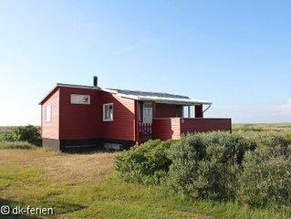 Charmantes Ferienhäuschen auf Rømø mit Blick auf die schöne Dünenlandschaft