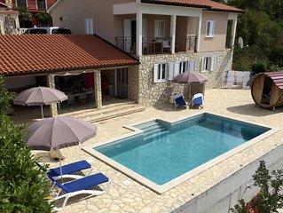 Luxe Villa met Full airco, 100% privé zwembad, de buitenkeuken en dicht bij zee.
