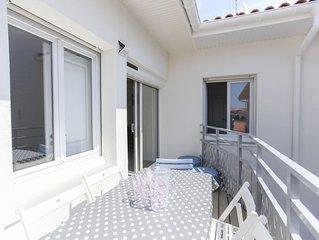 300 mètres de la plage, appartement lumineux avec parking privé et terrasse !