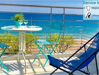 Le Panorama: Appartement duplex en front de mer avec magnifique terrasse vue mer