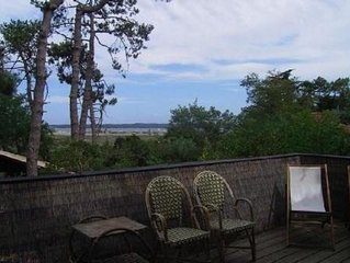 Maison en bois 44 hectares 3 chambres & mezzanine grand sejour vue sur la lagune