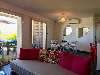 Appartement de Standing de 6 personnes avec vue mer et accès direct mer
