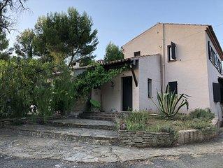 Villa vue mer hauteur de Saint Cyr sur mer