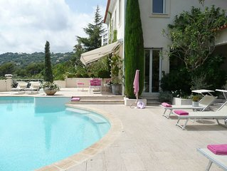 Private tennis, sea view,  luxury villa  in residential area