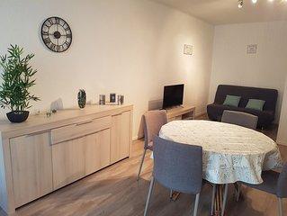 Agreable appartement de 45 m2 situe a proximite de la plage et du port