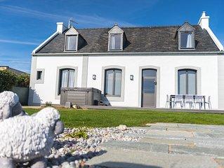 Le Clos de la Pointe Saint-Mathieu, villa Bretonne **** vue mer à 180° 2-13 pax