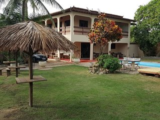 Fantastic house with beach and a lagoon with WiFi Smart TV & large swimming pool