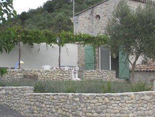 grand gite dans mas en pierre typique de l'Ardeche meridionale