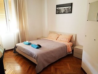 The apartment is located near the fair in Bologna and near the city centre.