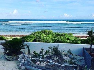 Villa corail blanc, 6 pers, les pieds dans le sable