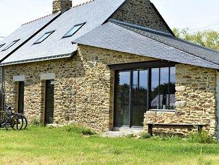 Maison bretonne atelier 10/12 pers en pierres proche mer golfe du Morbihan