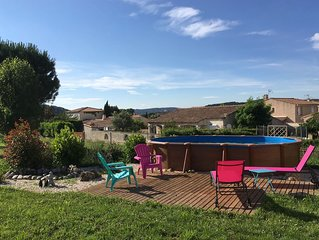 Maison à Gardanne entre Marseille et Aix-en-Provence, 3 chambres piscine privée.