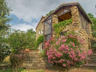 Ancienne maison de berger en pierre entièrement rénovée, vues exceptionnelles