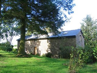 Fabulous, spacious hillside cottage in secluded garden with panoramic views