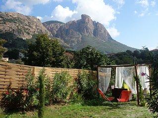 Rez-de-villa 55m2 tout confort au pied du Mont Gozzi a Piscia Rossa (Appietto)