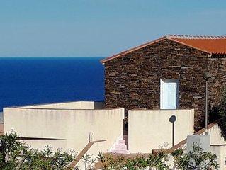 Maison + terrasse vue sur mer exceptionnelle 4 personnes Cote Vermeille