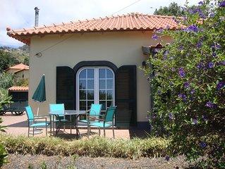 MADEIRA WINE COTTAGE  'MALMSEY' has sea view,  is near beautiful walking areas.