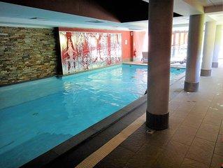Appartement de standing 4/5 pers - label 4 oreillers/Confort+ avec piscine/sauna