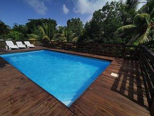 T2 Vanilla: confort, piscine spacieuse, coin vert