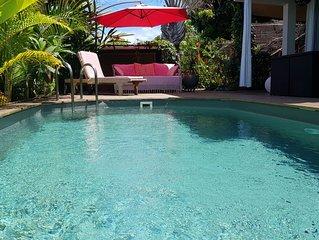 Cocon pour deux avec vue mer et piscine privée