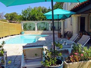 Maison individuelle à Fréjus, piscine privée sans vis à vis pour 6 personnes