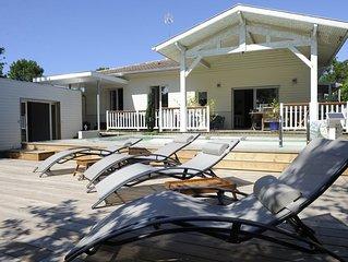 Seignosse GOLF - villa avec Piscine chauffée, à 5 min de l'océan