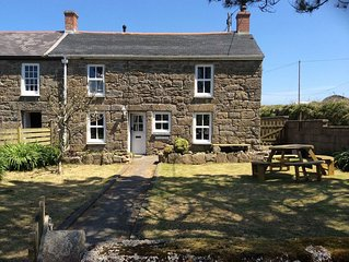 Traditional miners cottage in the tranquil cornish coastal village of Botallack