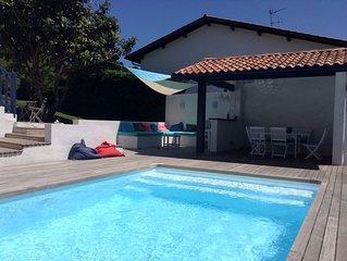 Ciboure. Jolie Villa cosy avec piscine proche plage et commerces