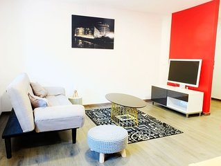 Gite Ottrott : appartement 'rouge' moderne