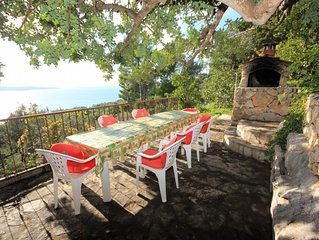 One bedroom apartment with terrace and sea view Zavala (Hvar) (A-8912-b)