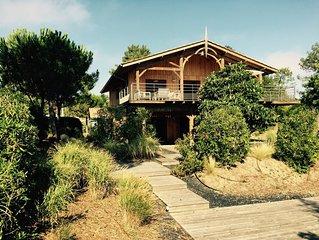 Belle villa familiale 10 pers, Mimbeau, 50m bassin, quartier ostreicole