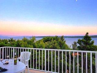Island Hvar Zavala apartment5with panoramic views of the Peljesac