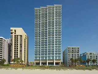 Spacious three bedroom suite at Ocean 22 by Hilton, oceanfront resort. Book now!