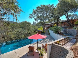 Luxury in Wine Country with Heated Infinity Pool, Hot Tub, 4 Bedrooms
